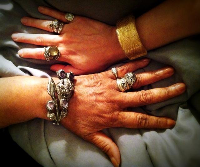 dressed up hands