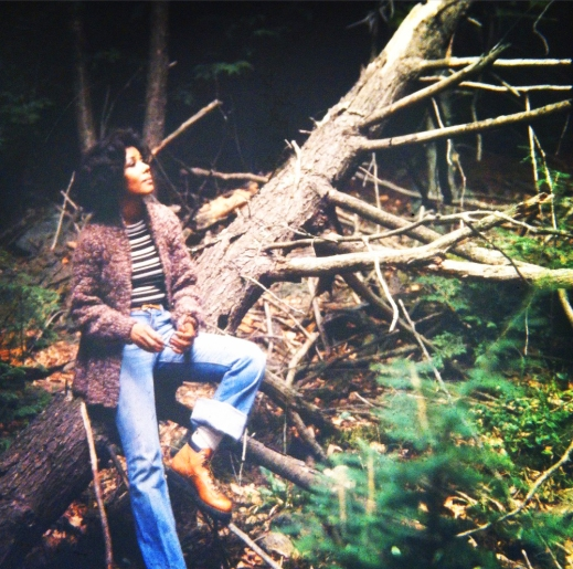 Mom in the woods