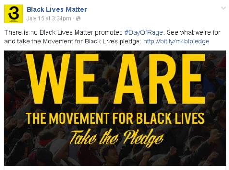 BLM response to Day of Rage